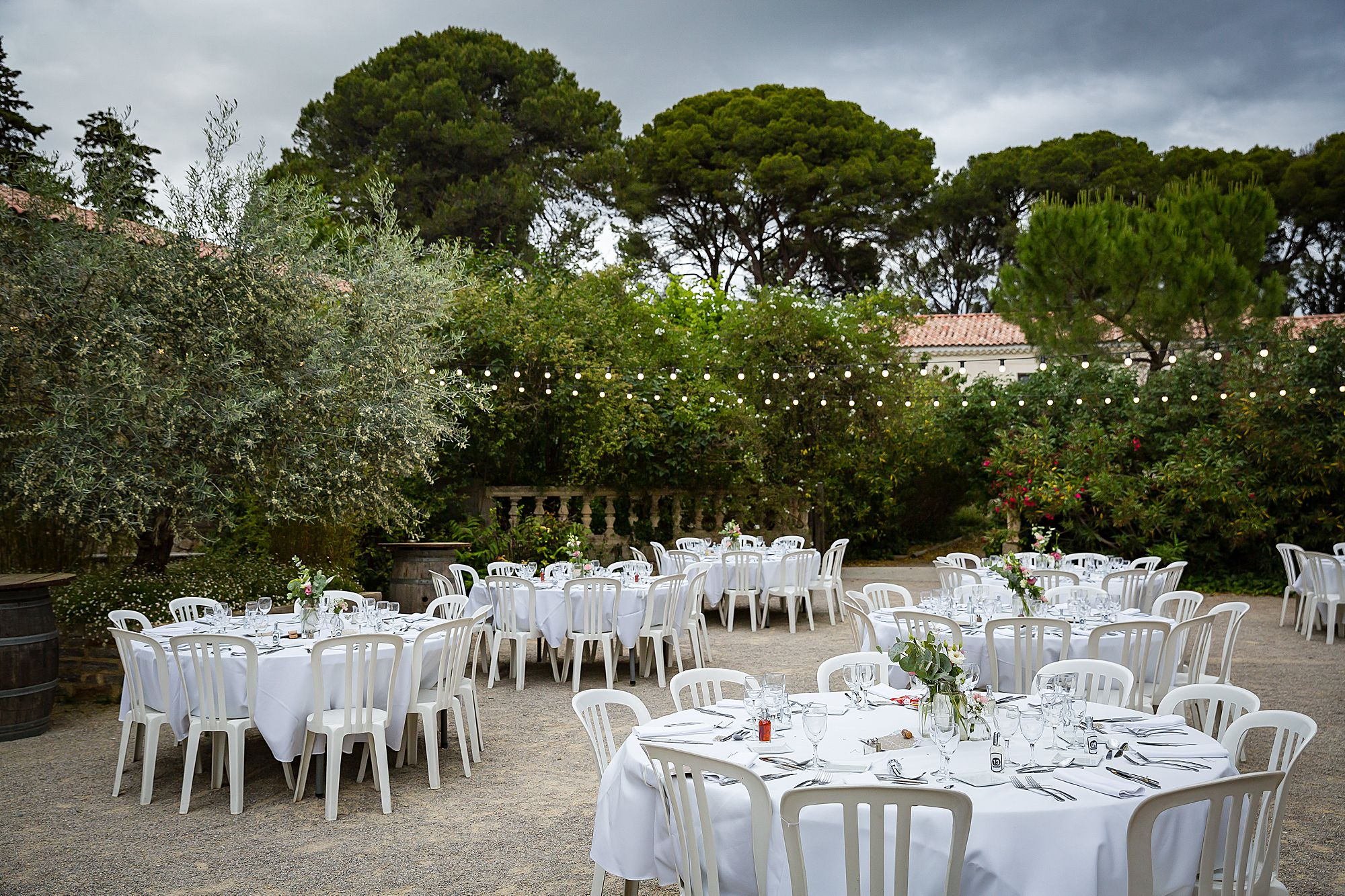 Domaine de la Grangette wedding tables