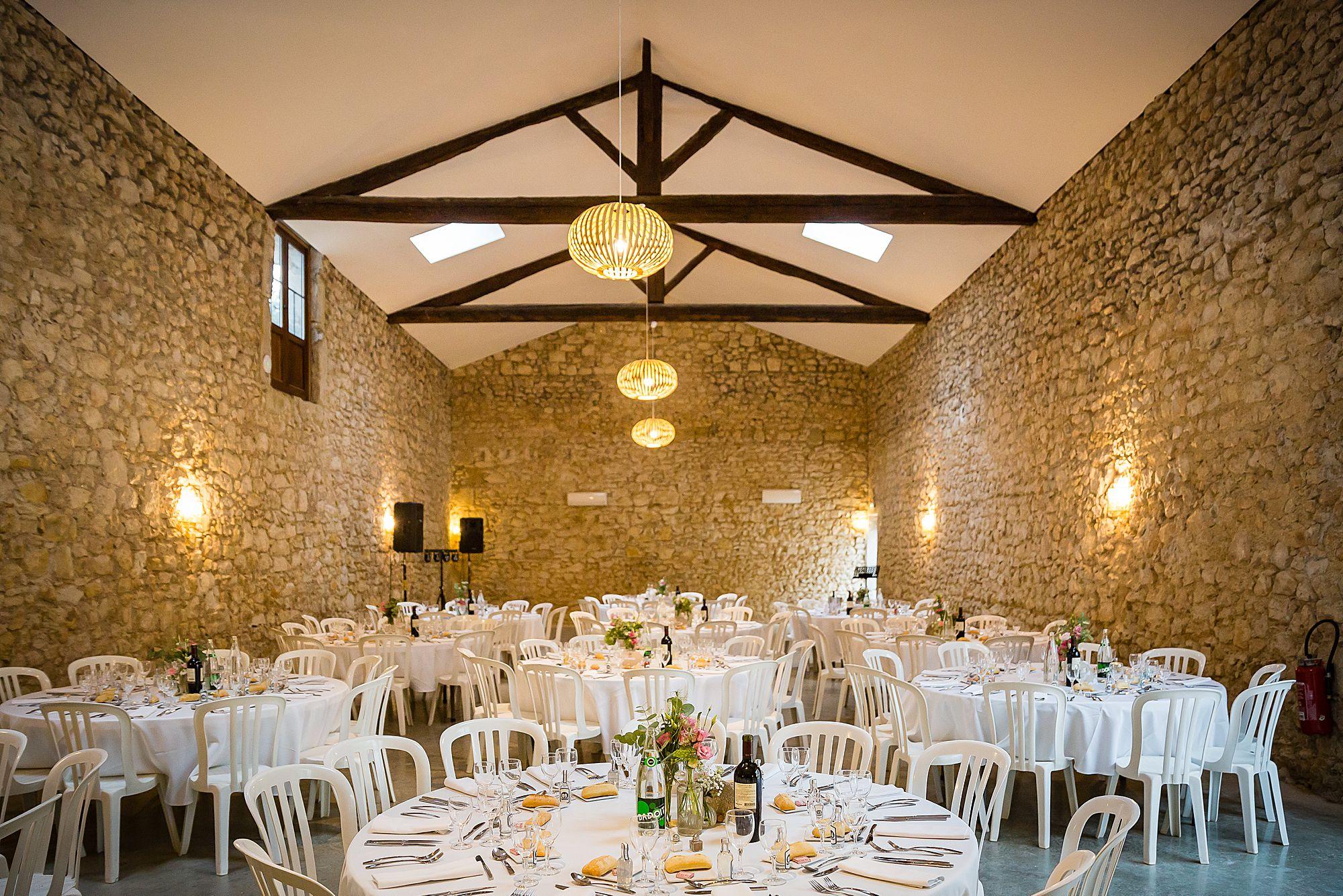 The salle Domaine de la Grangette wedding