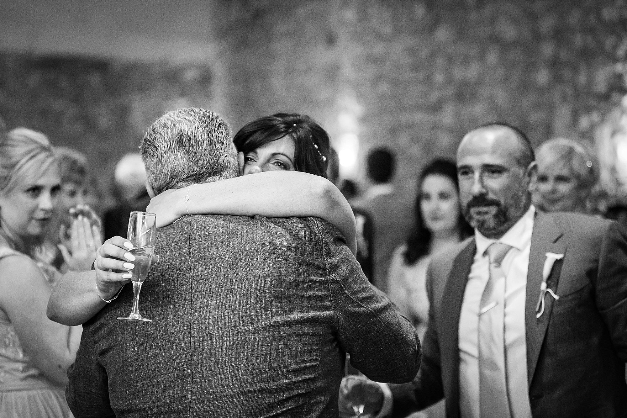 bride hugs dad