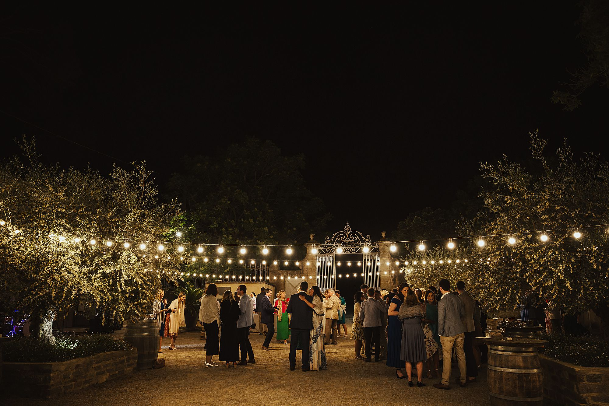 Domaine de la Grangette wedding at night
