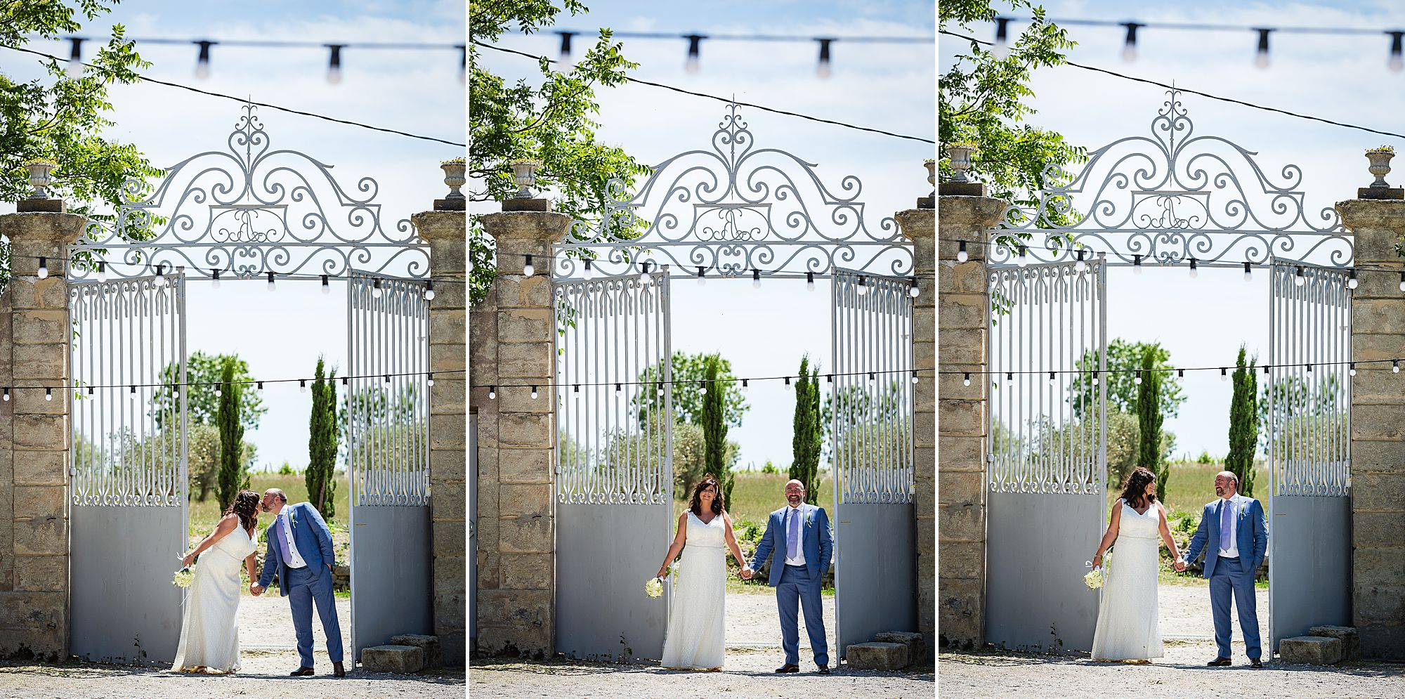 the gates at Domaine de la Grangette wedding