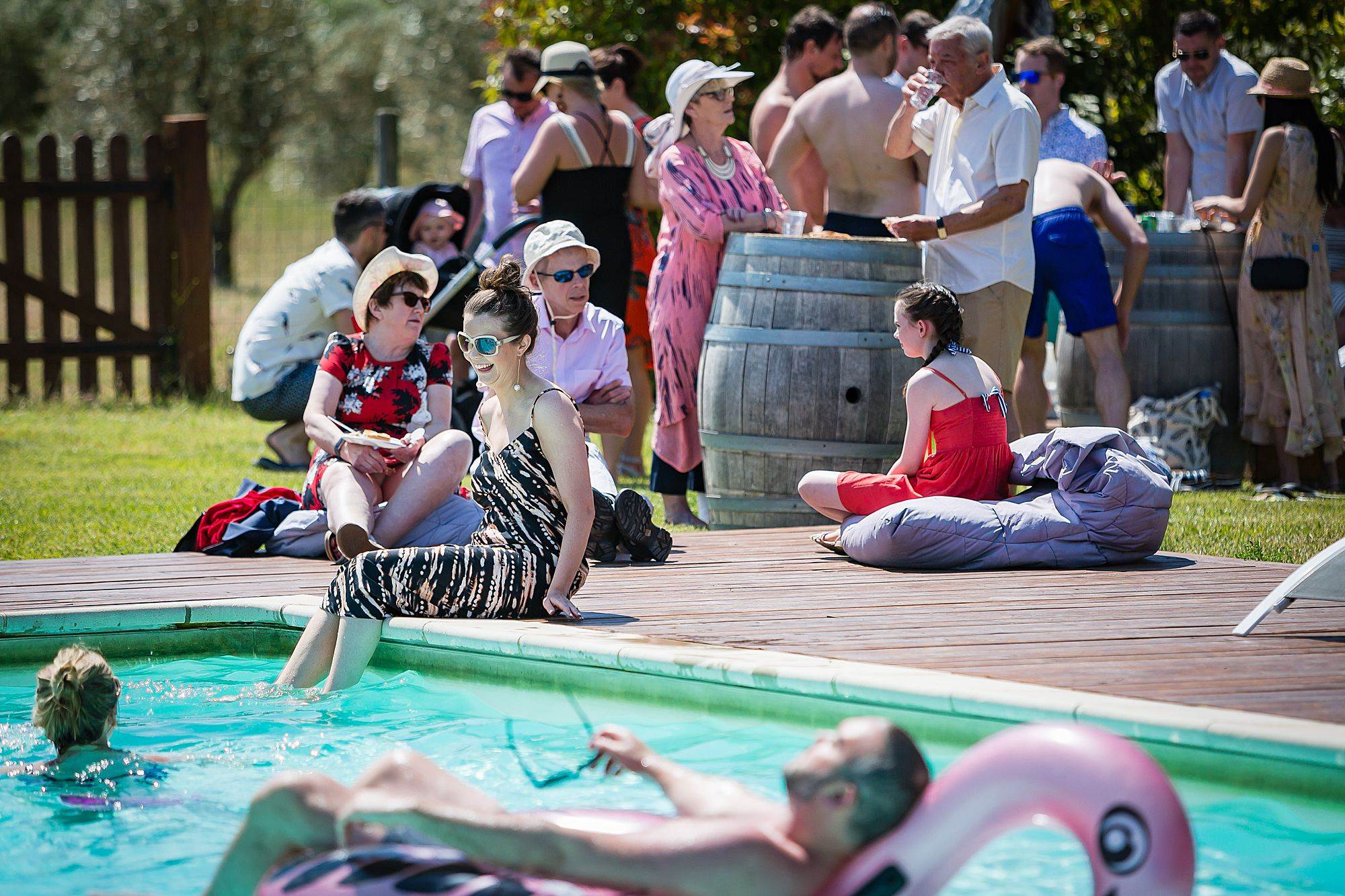 pool party at Domaine de la Grangette
