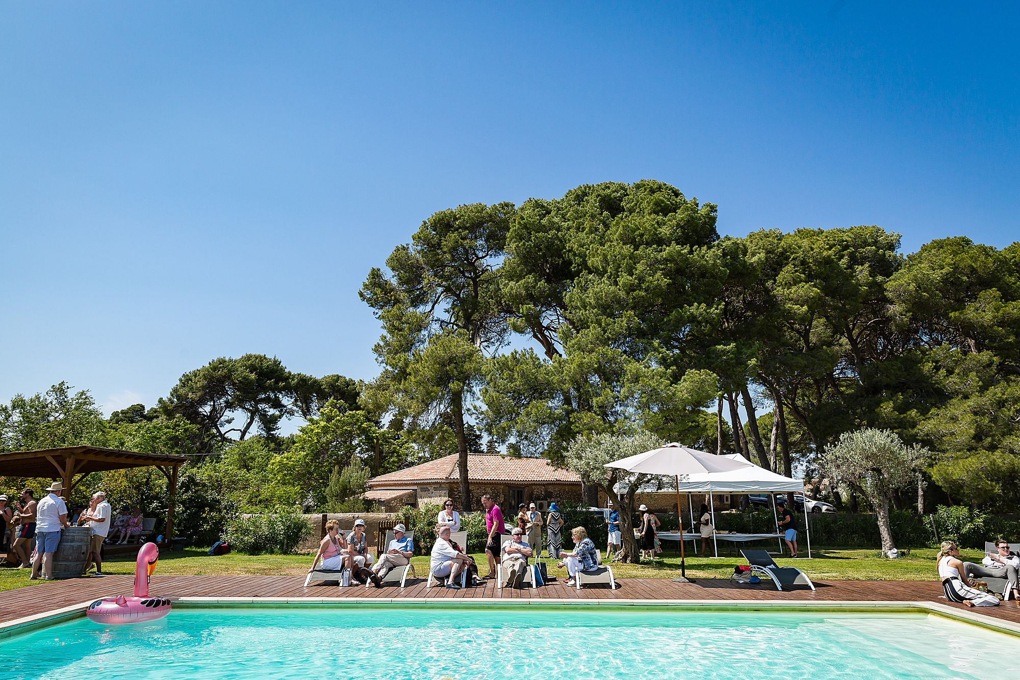 pool at Domaine de la Grangette wedding