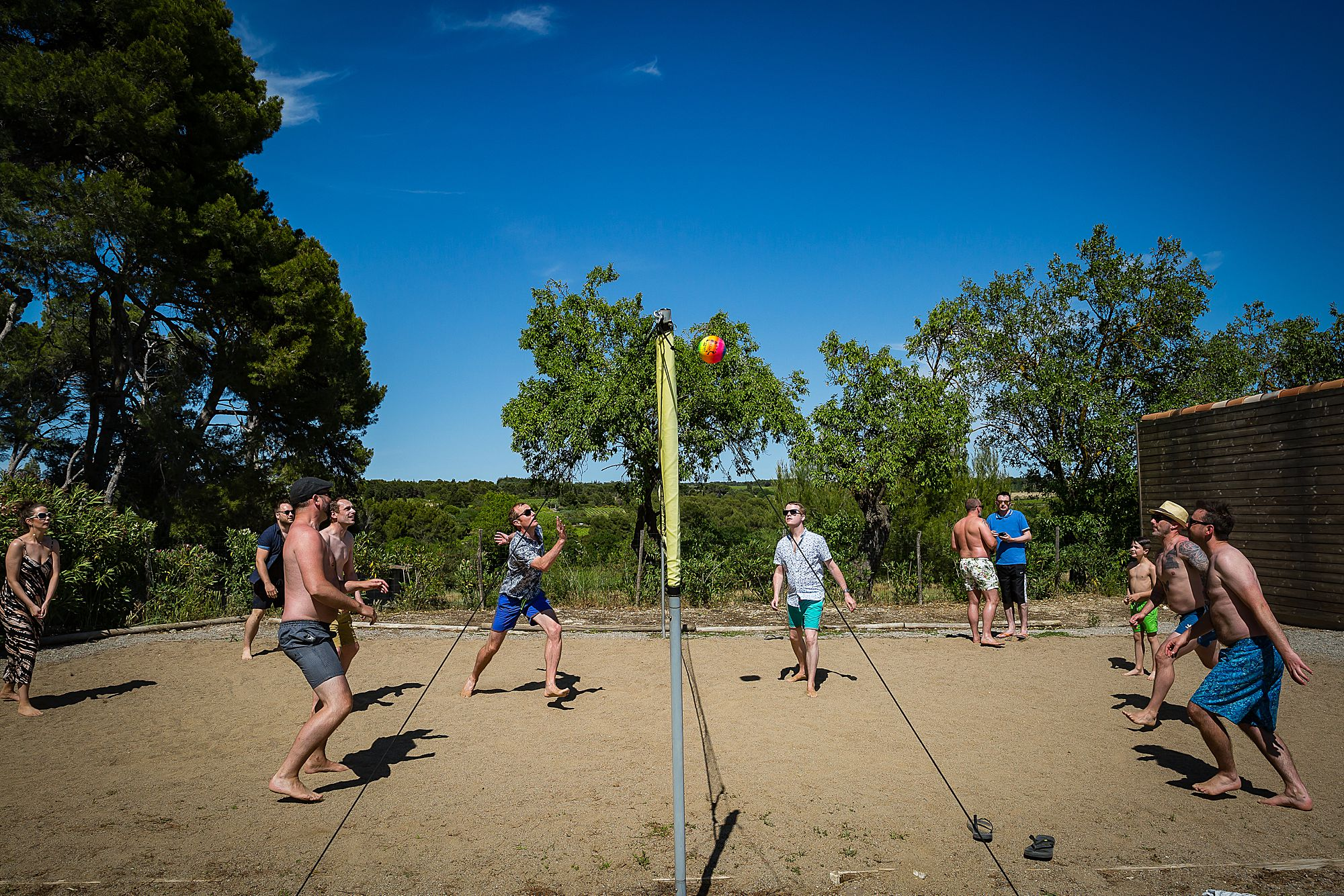 volley ball in the south of France