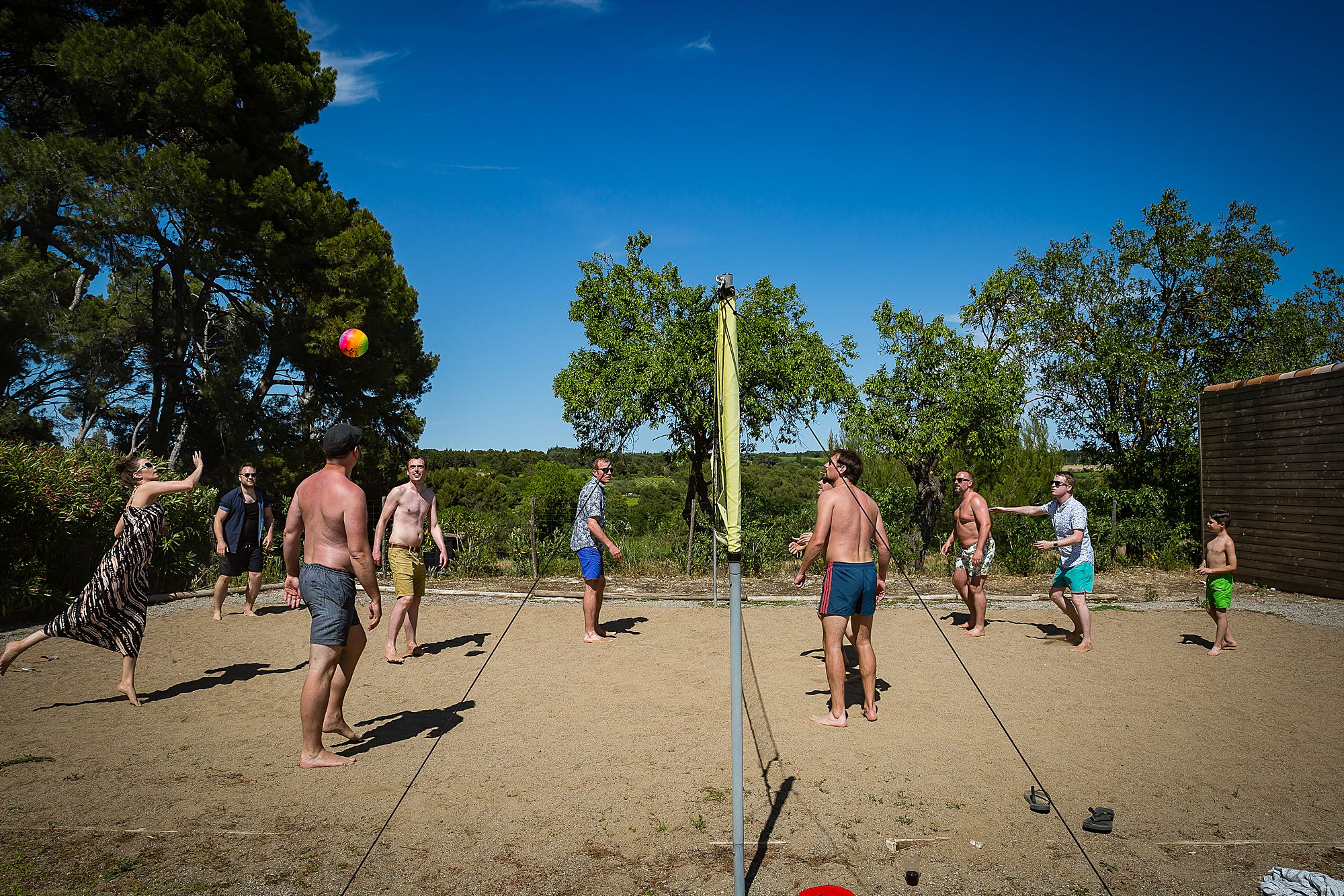 volley ball games in the south of France