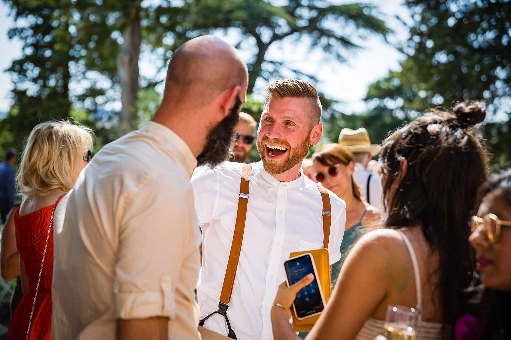 gay wedding in France smiles