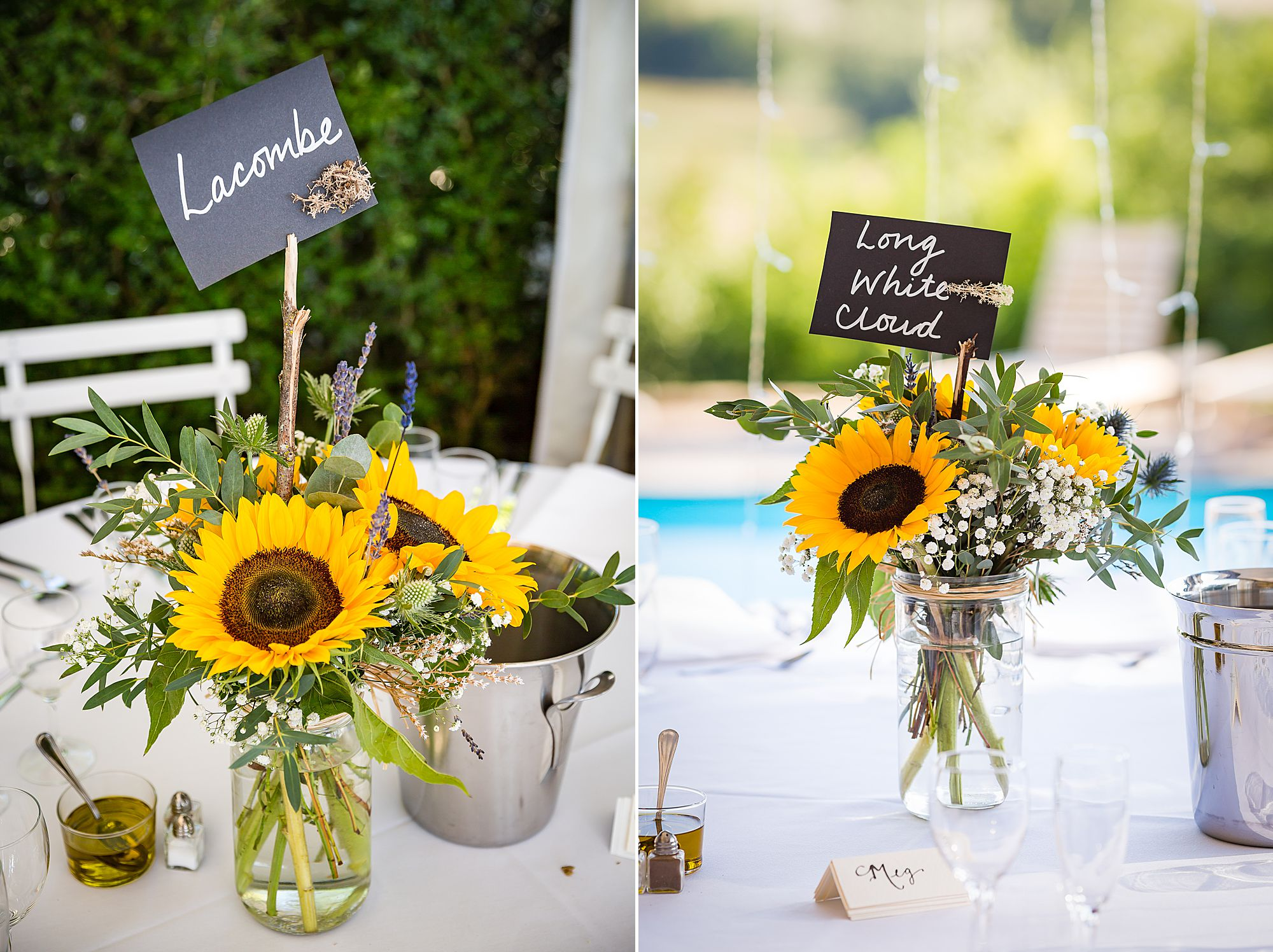 sunflower wedding tables