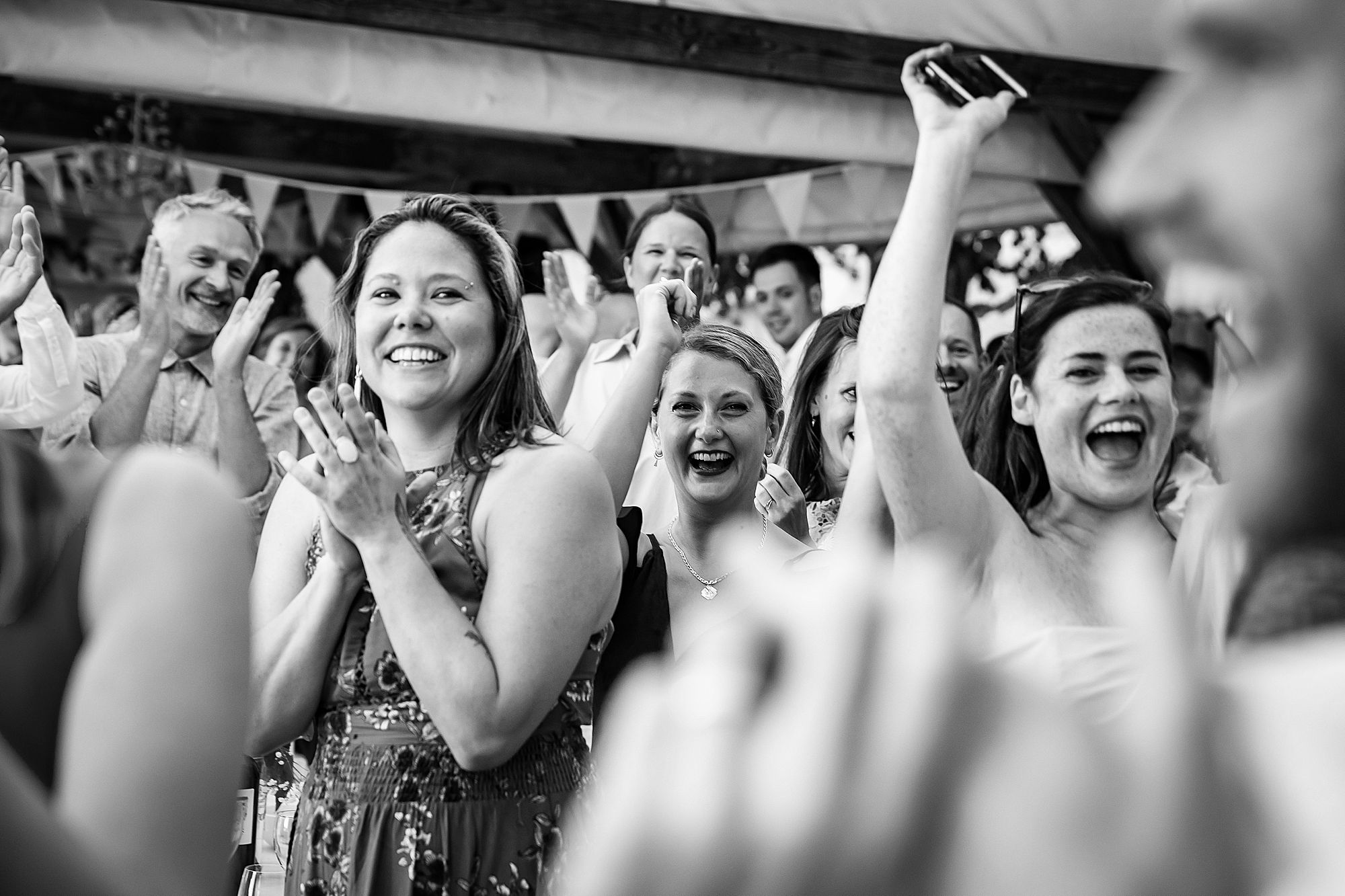 guests go wild at wedding