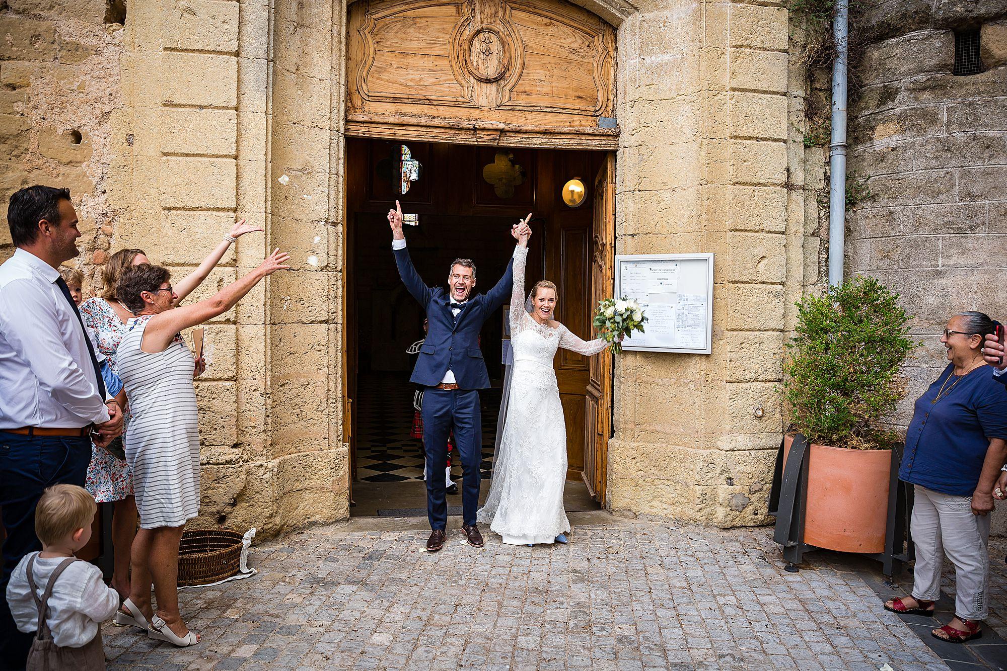 mariage l'église de St Cyr et Sainte Juliette, Plan de l'Église, Pomérols, Languedoc-Roussillon
