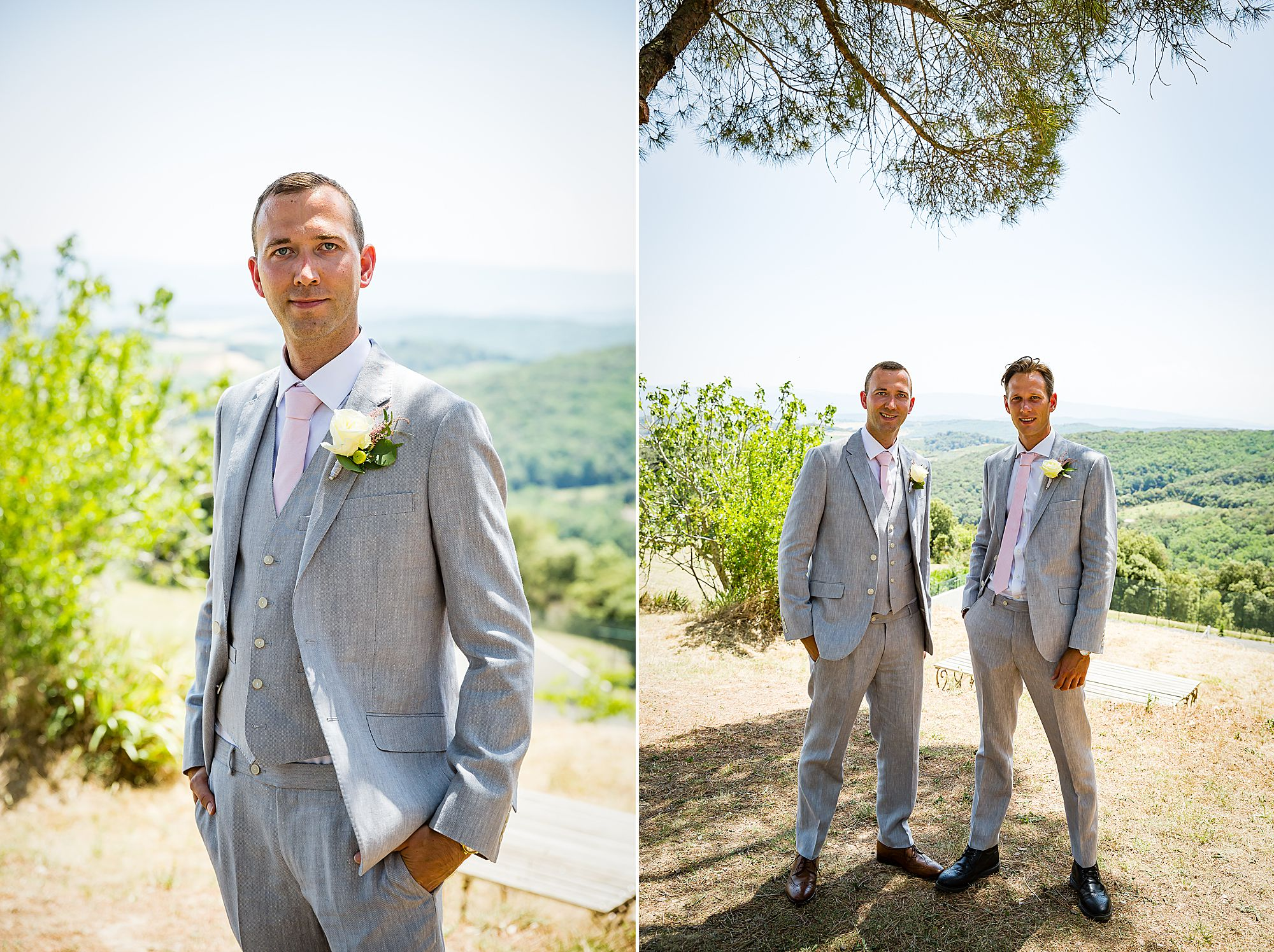 groom at his south of France wedding