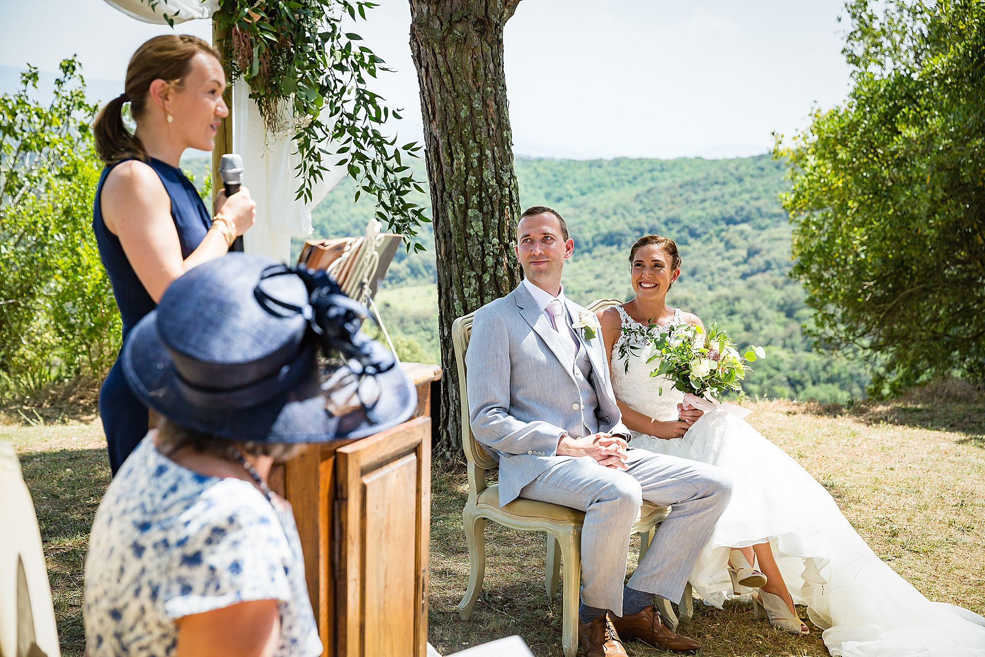 reading at south of France wedding