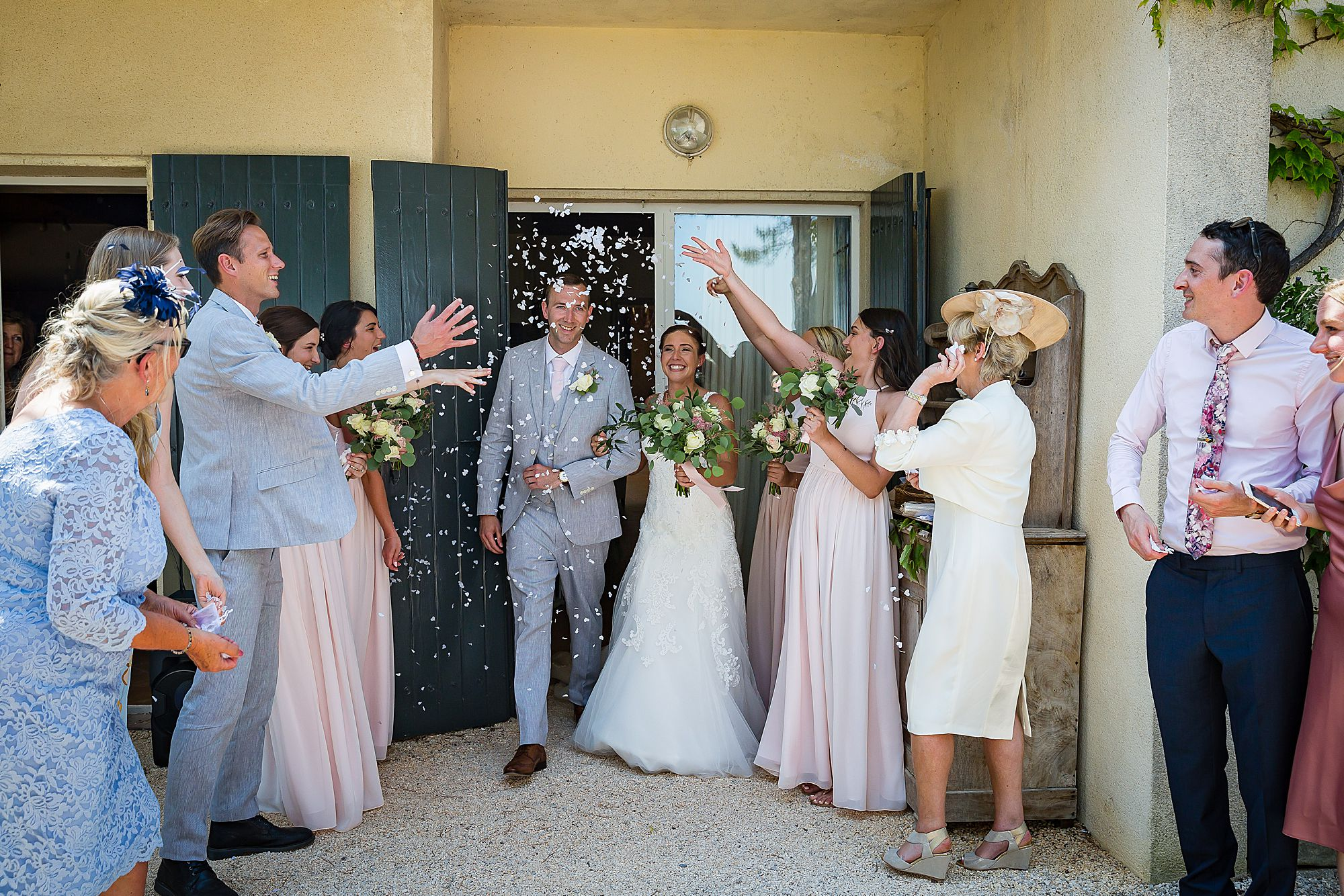 Domaine Michaud Wedding confetti