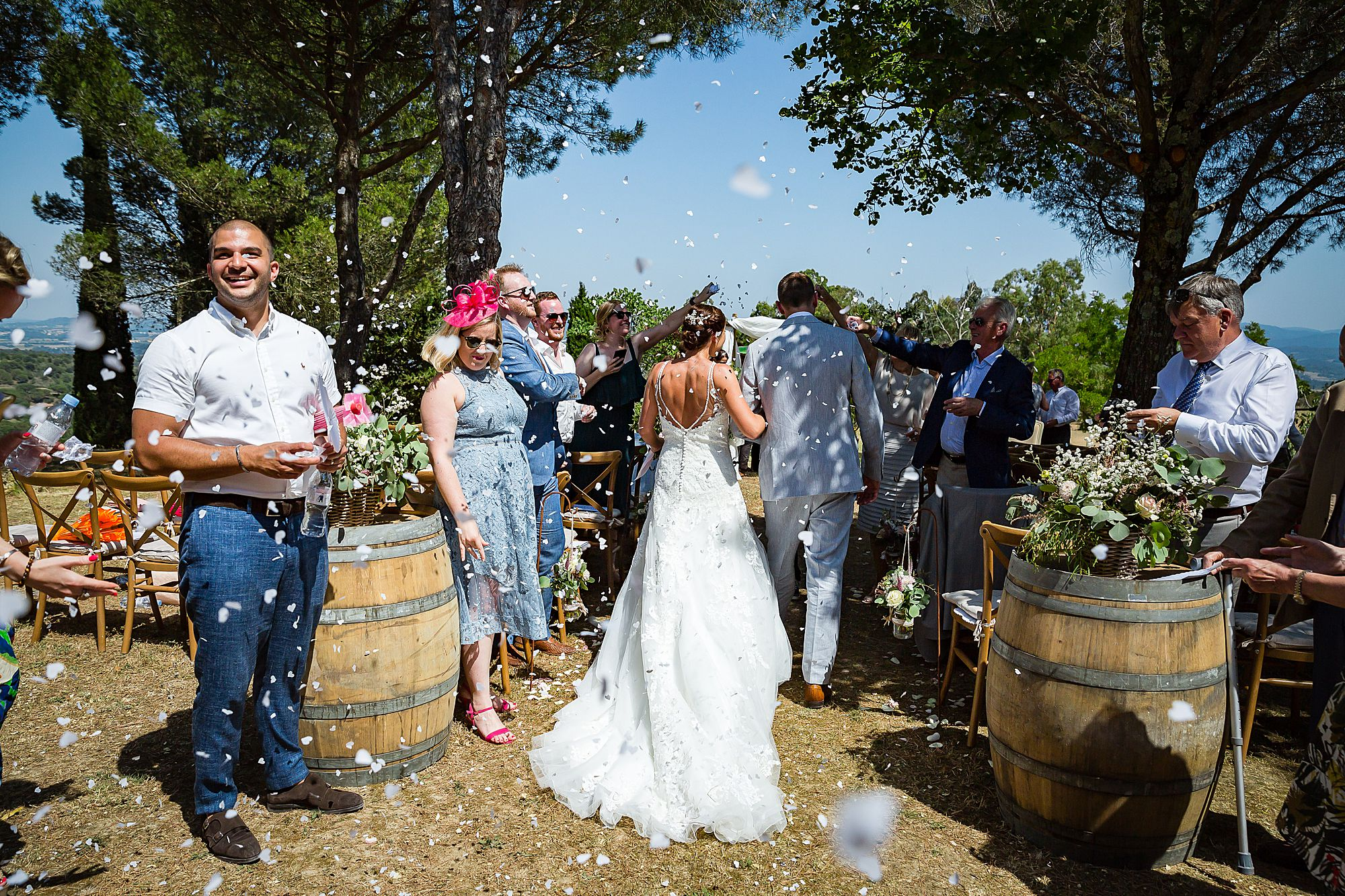 confetti at Domaine Michaud Wedding
