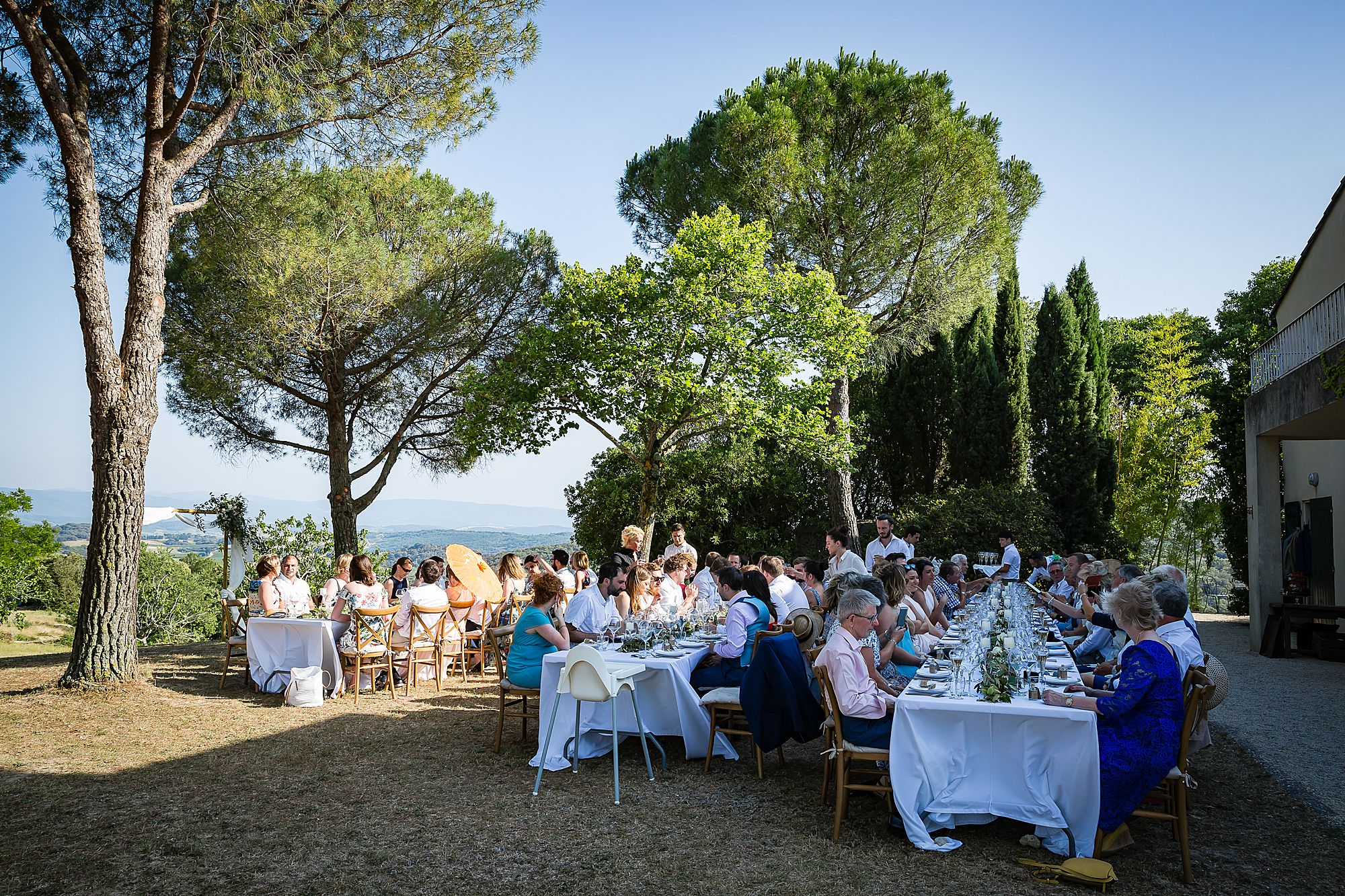 south of france wedding meal
