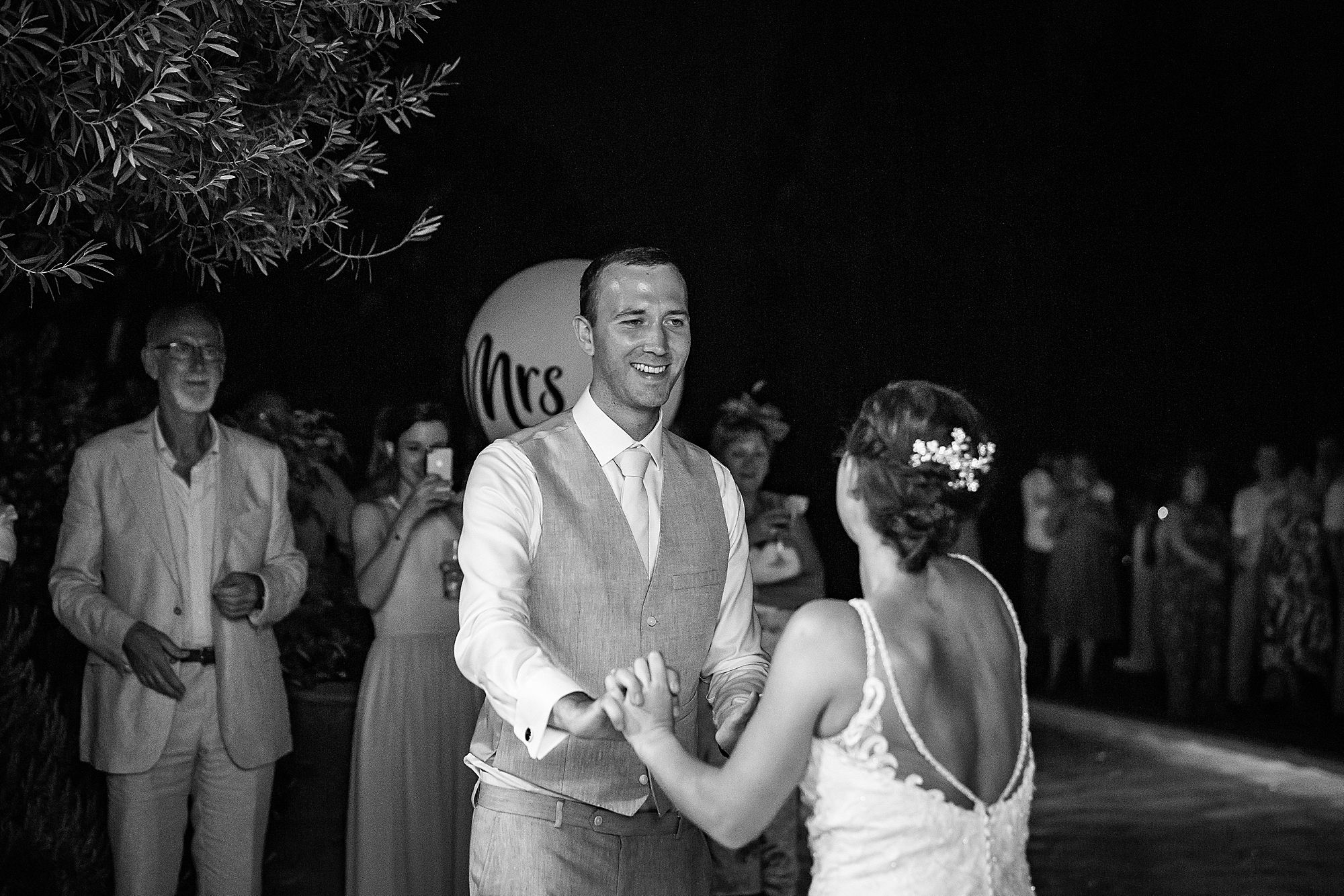 bride and groom first dance south of France wedding