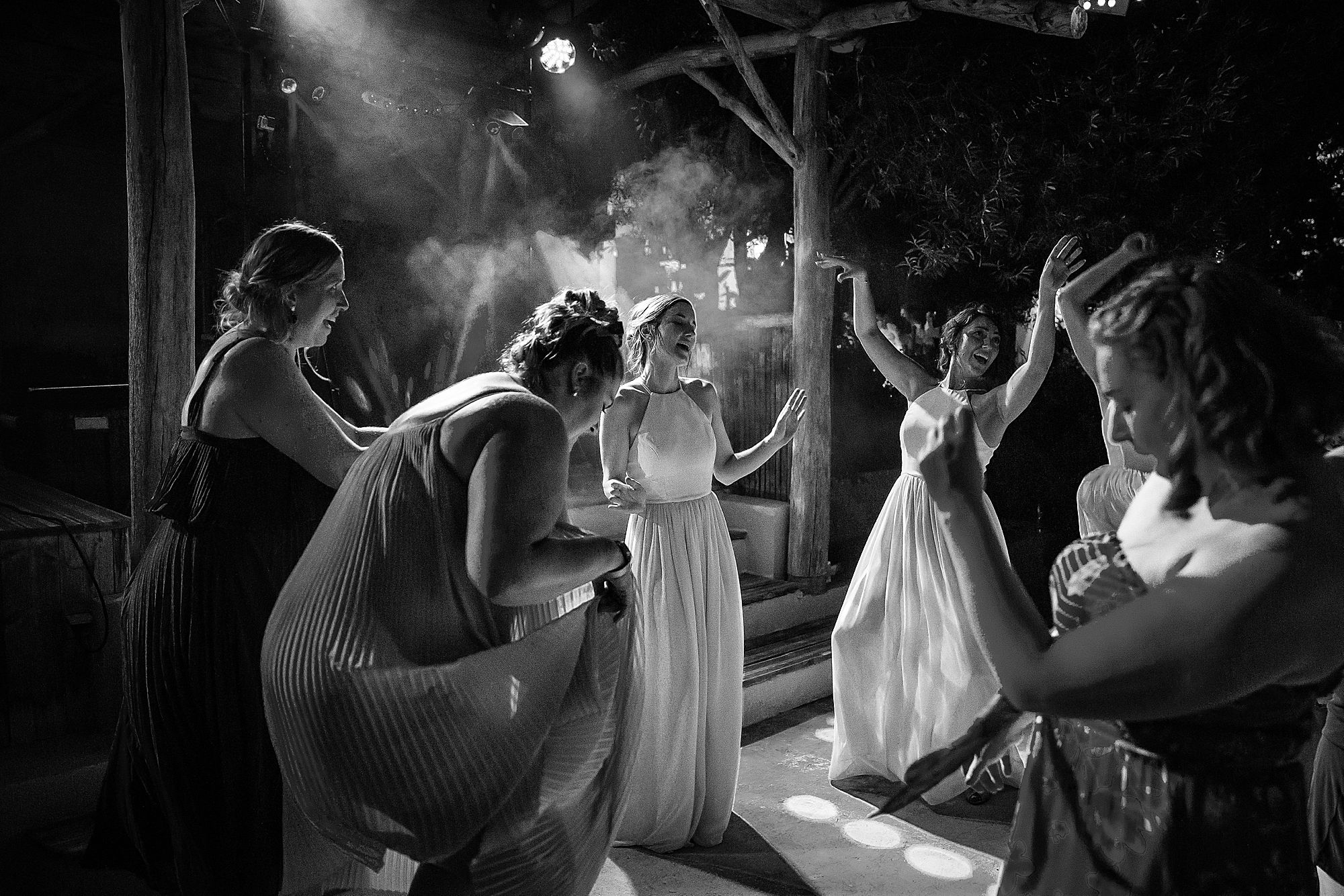 girls dance at Domaine Michaud Wedding