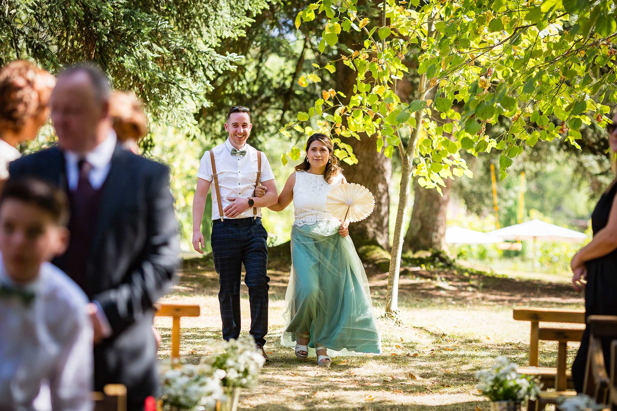 Domaine le Castelet wedding ceremony