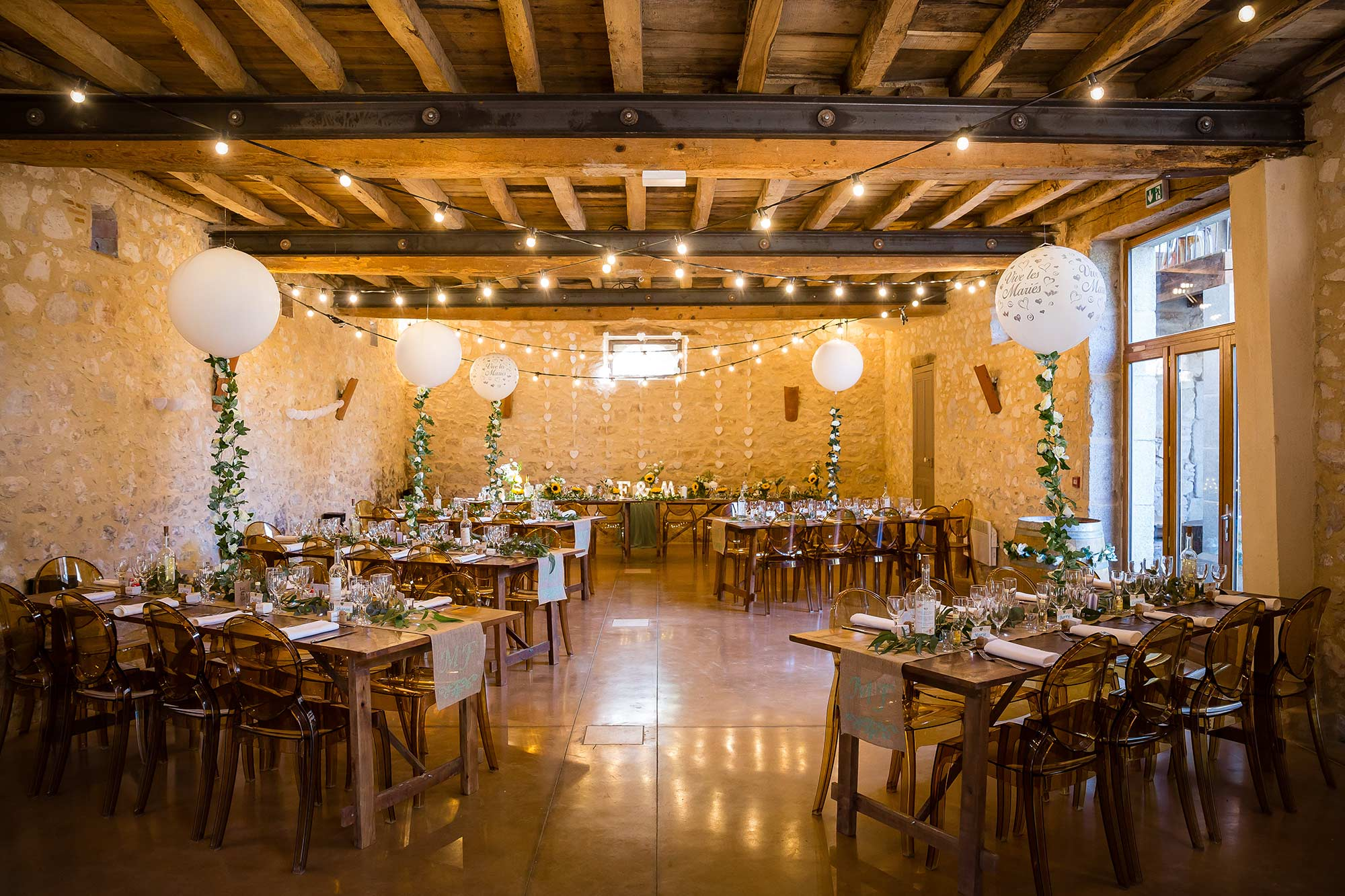 Domaine le Castelet wedding tables