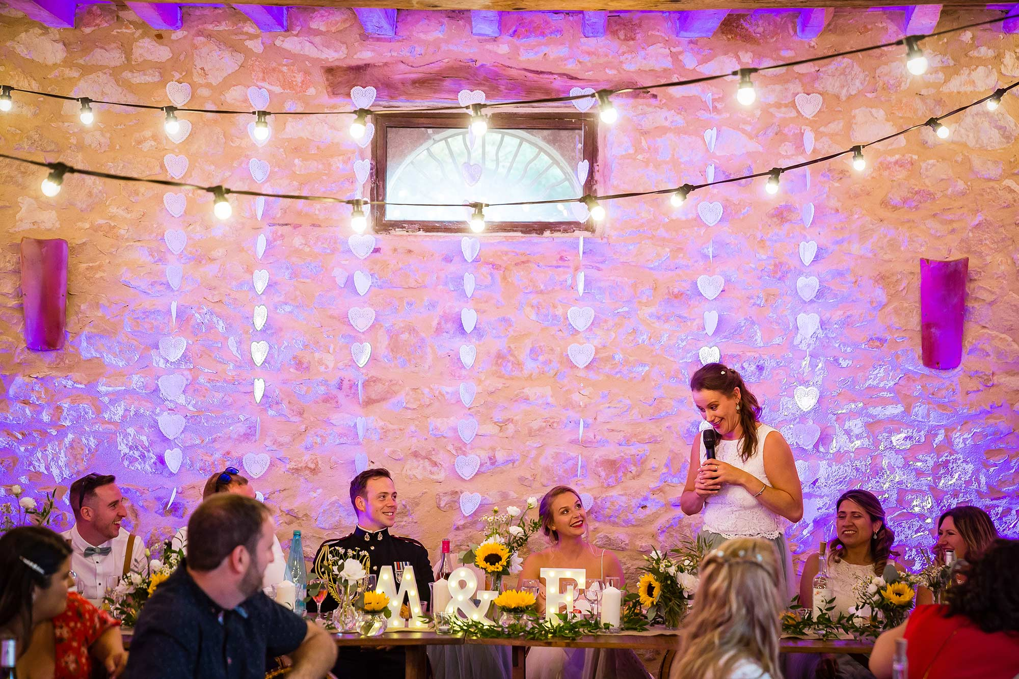 speeches at Domaine le Castelet wedding