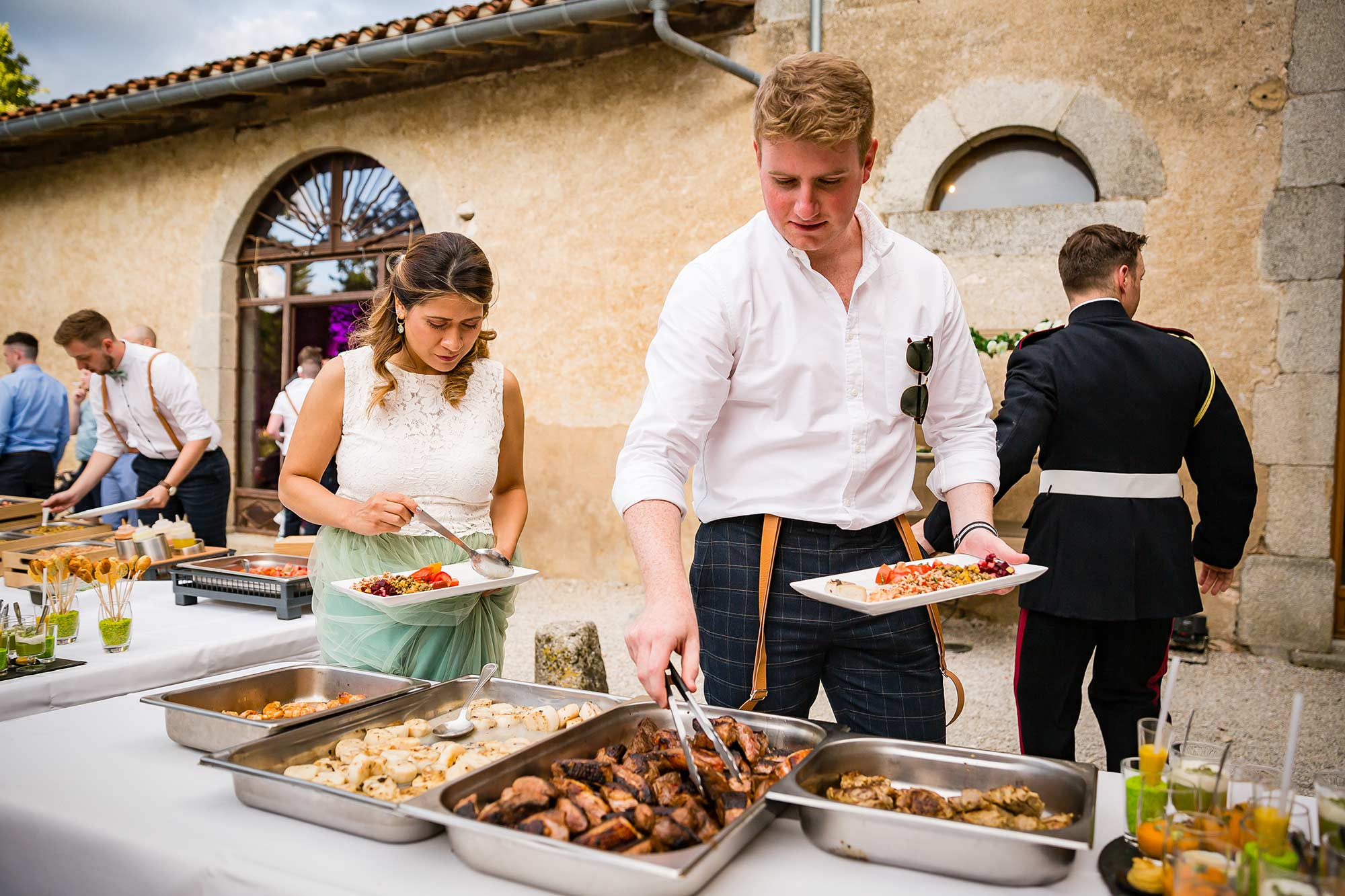 french bbq wedding
