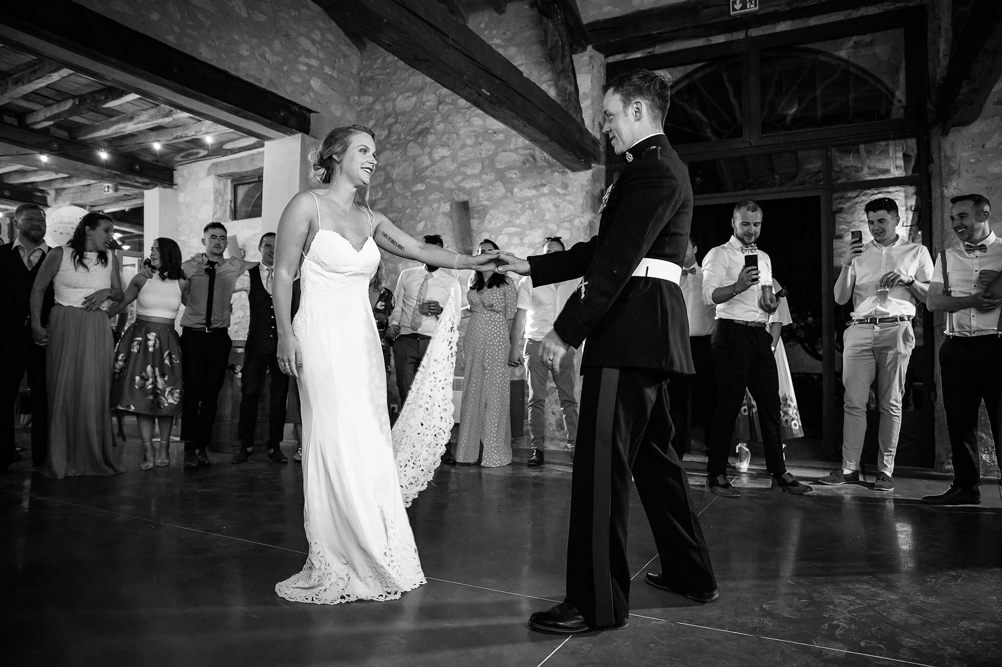 first dance at Domaine le Castelet wedding