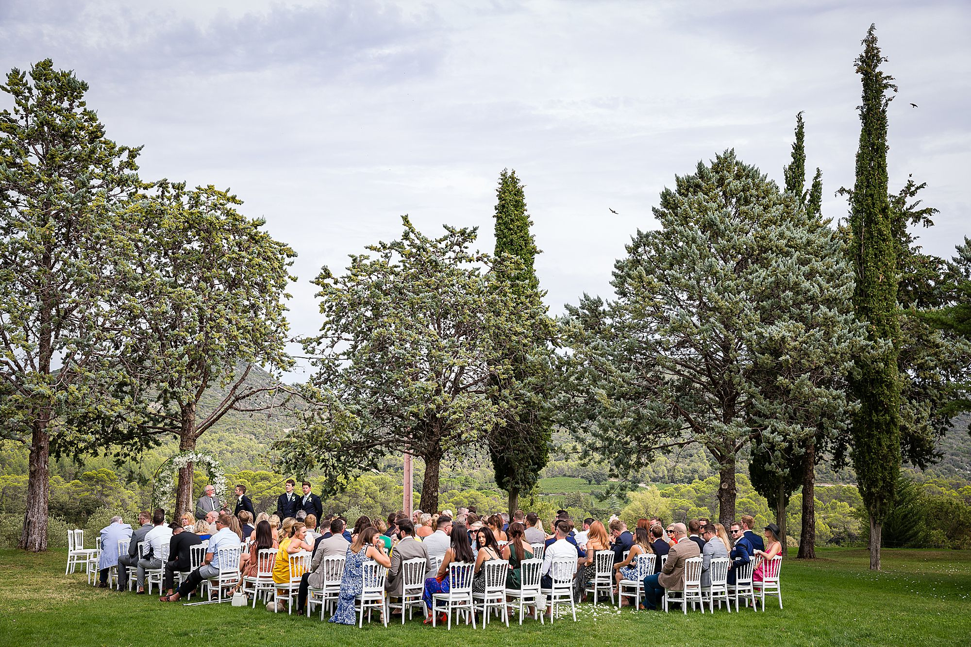 Arles Wedding Photography outdoor ceremony in the south of France