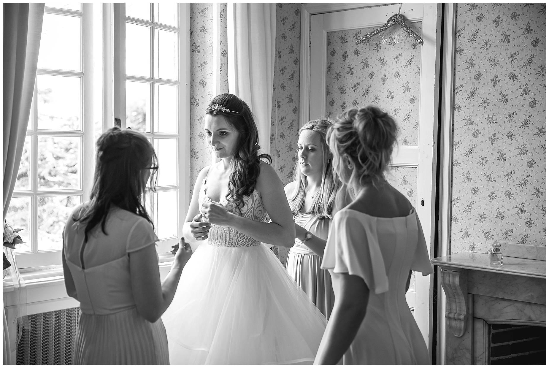 bride at Château du Puits es Pratx