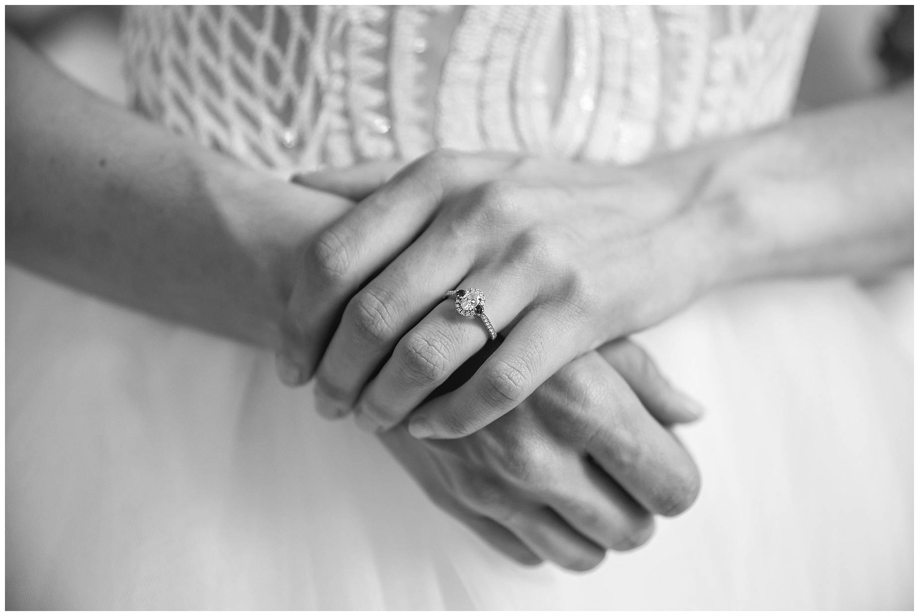 close up of brides hands looking nervous